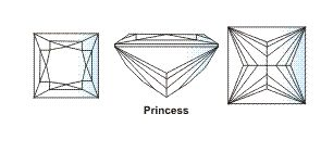 Diamond 4 C 11 princes cut