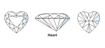 Diamond 4 C 18 heart cut